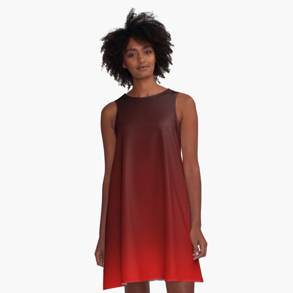 Red Ombre A-Line Dress