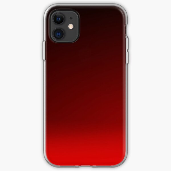 Red Ombre iPhone Soft Case