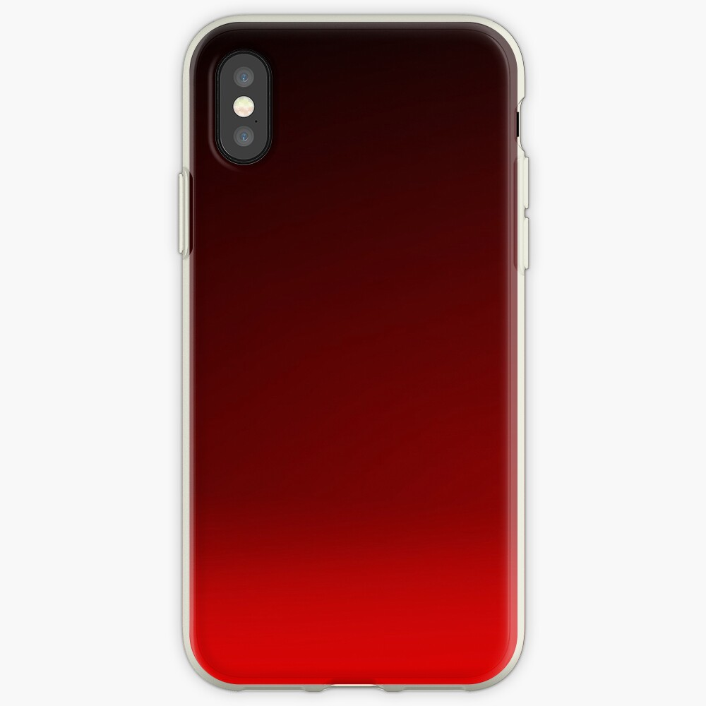 Red Ombre iPhone Case & Cover