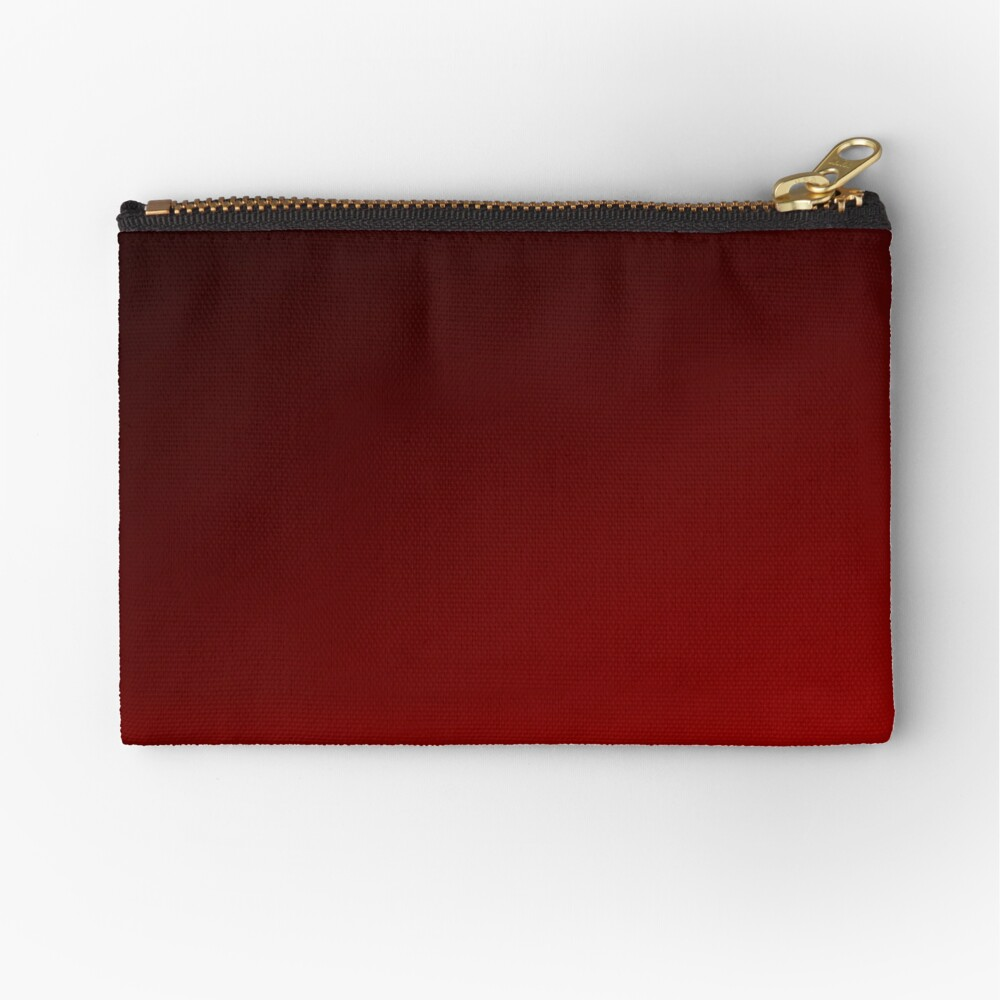 Red Ombre Zipper Pouch