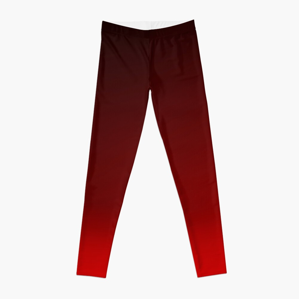 Red Ombre Leggings Front