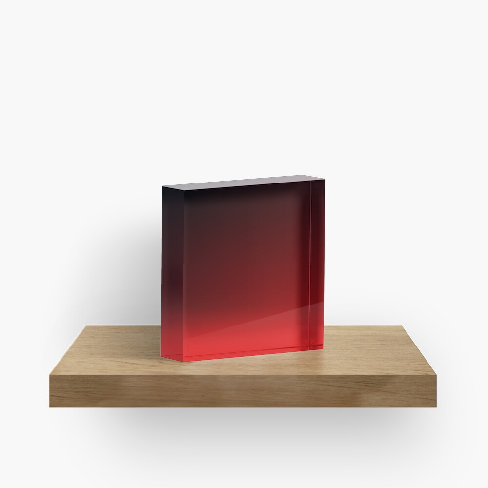 Red Ombre Acrylic Block