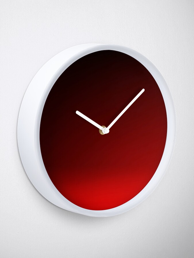 Alternate view of Red Ombre Clock