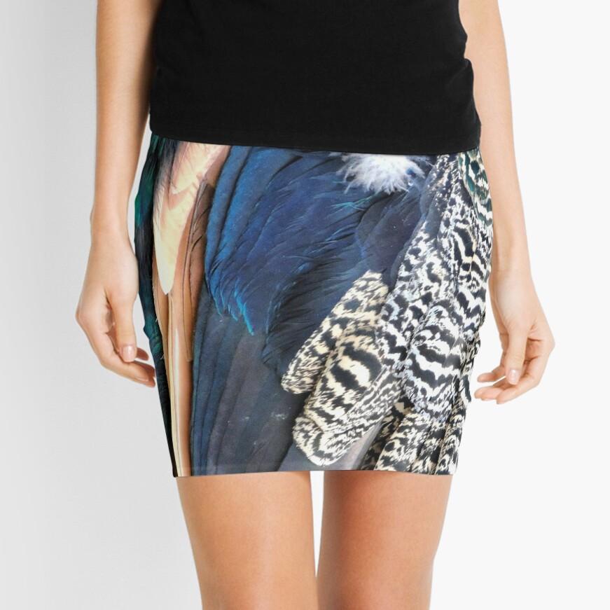 Peacock feathers Mini Skirt