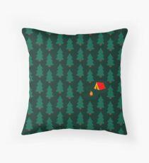 Deep Wild Forest - Part II - Camping Throw Pillow