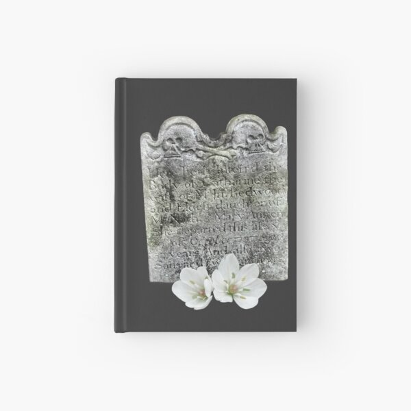 Macabre skulls and flowers Hardcover Journal