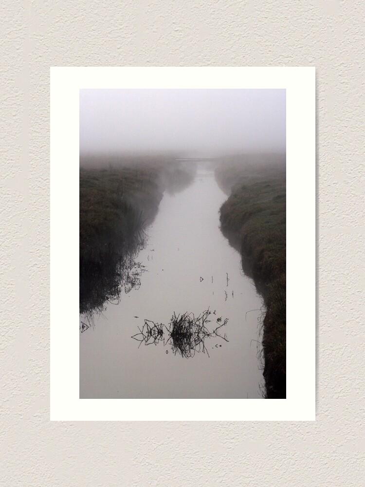 Alternate view of Misty Marsh Art Print