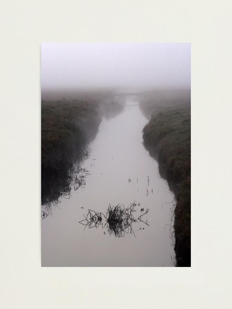 Alternate view of Misty Marsh Photographic Print