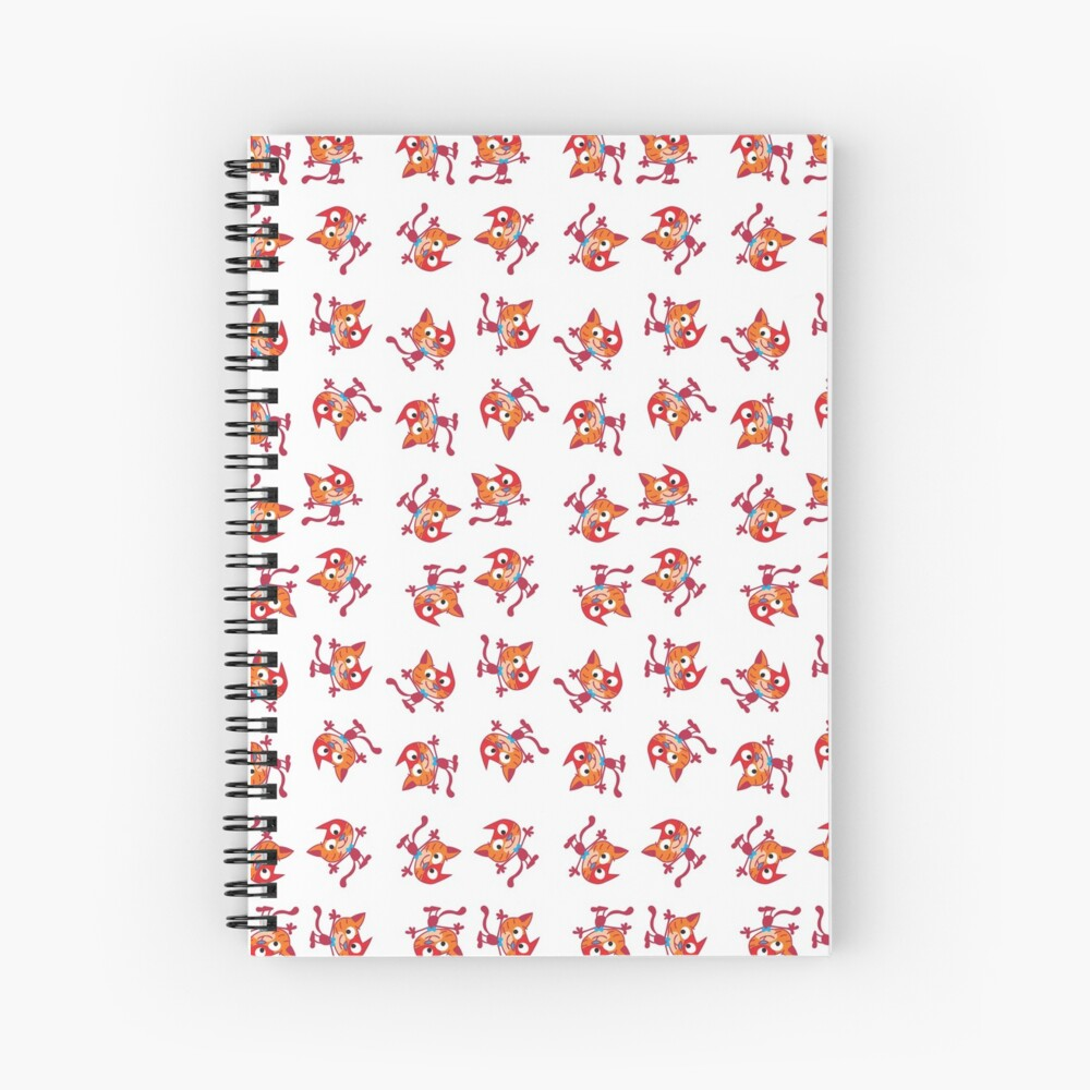 Red Cat confusion pattern Spiral Notebook