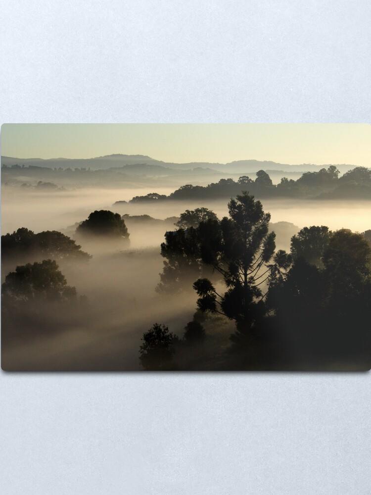 Alternate view of Misty Morning Metal Print
