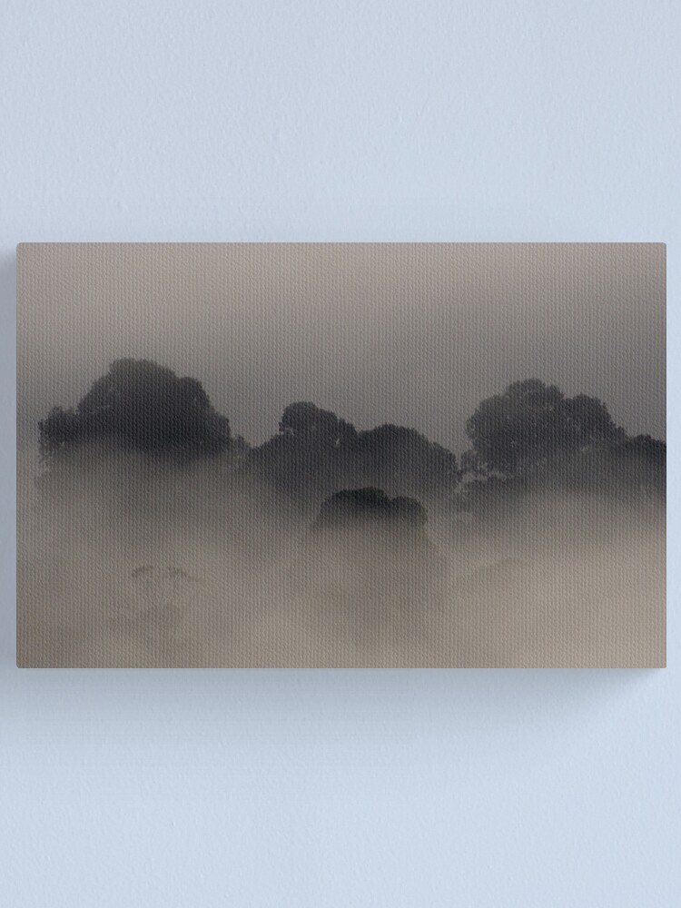 Alternate view of Trees in the Mist Canvas Print