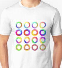 Set of Colorful Circle Icons Isolated on White Background T-Shirt