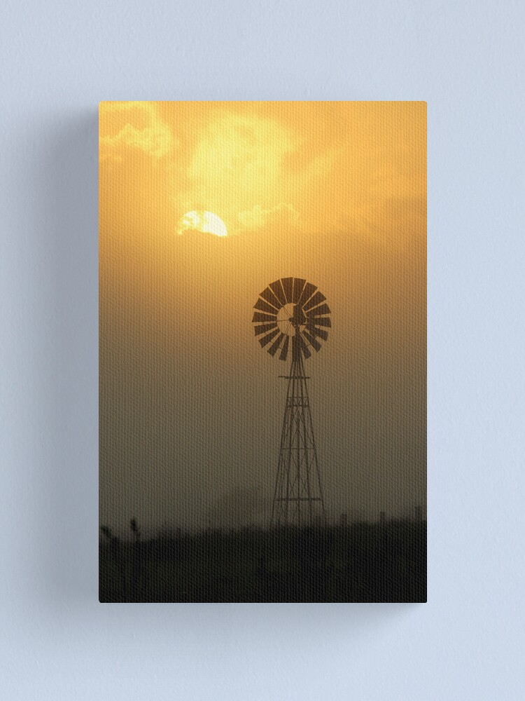 Alternate view of Windmill Sunrise Canvas Print
