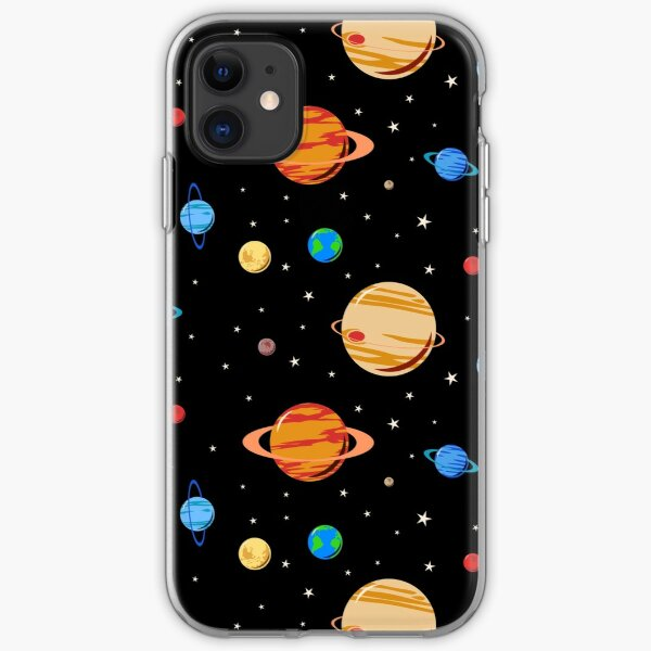 Cute Planets Pattern iPhone Soft Case