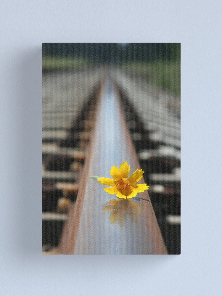 Alternate view of Waiting for the train... Canvas Print