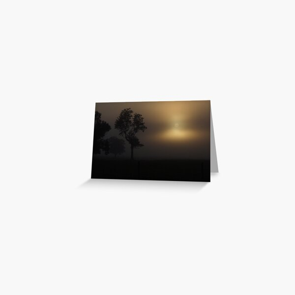 Foggy Sunrise Greeting Card