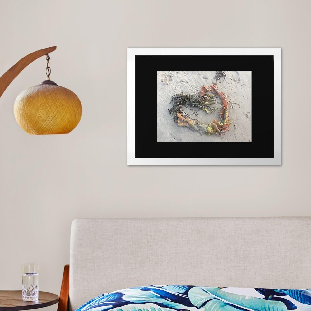 Just A Little Beach Heart Framed Art Print