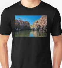 End point of Katherine Gorge river cruise in Northern Territory, Australia. Unisex T-Shirt