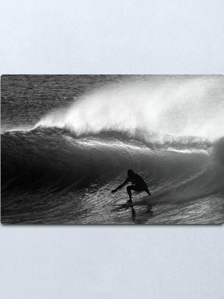 Alternate view of Dawn Surfer Metal Print