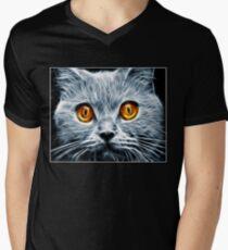 Demon Eyes Men's V-Neck T-Shirt