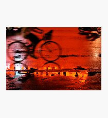 Cycling Reflections Photographic Print