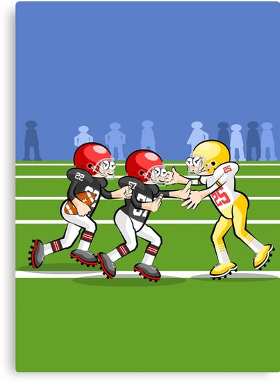 American football player running with ball by MegaSitioDesign
