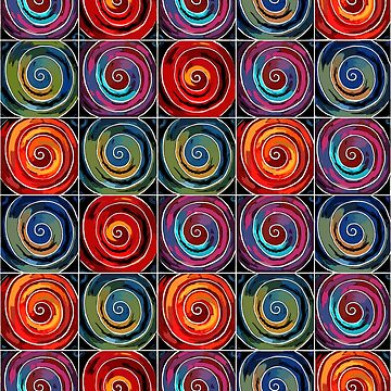 """Abstraction """"Circles on the water"""" by anushka777"""