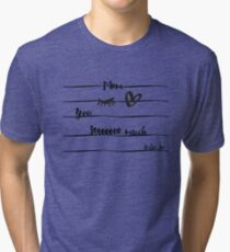 Eye-Love Mom Design Tri-blend T-Shirt