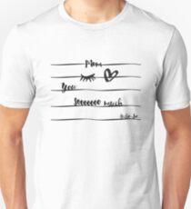 Eye-Love Mom Design Unisex T-Shirt