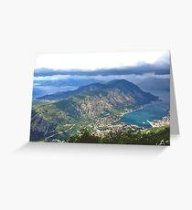 The Bay of Kotor Greeting Card