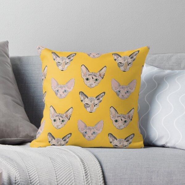 the sphynxes Throw Pillow