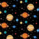 Cute Planets Pattern by jezkemp