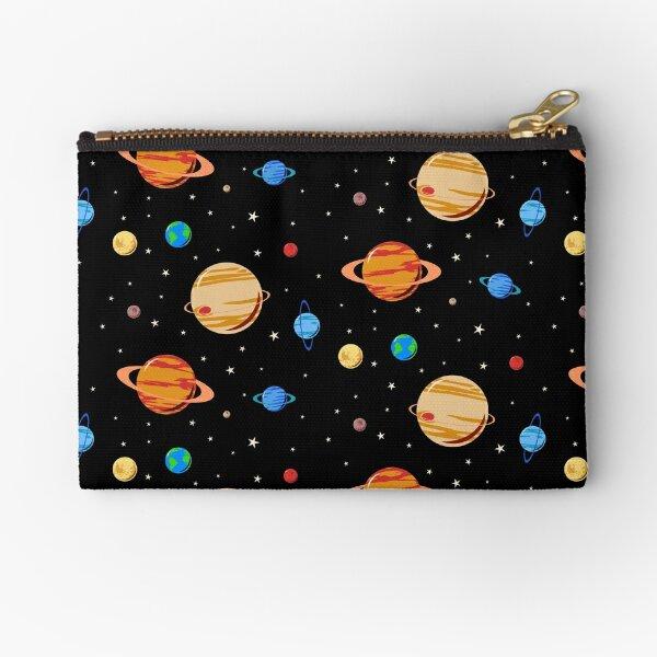 Cute Planets Pattern Zipper Pouch