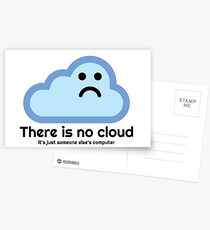 There is no cloud Postcards