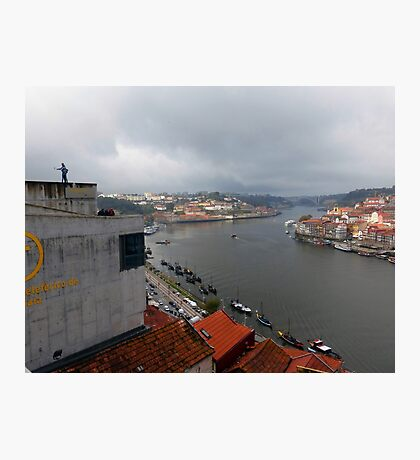 Selfies above the Douro  River, Porto, Portugal Photographic Print