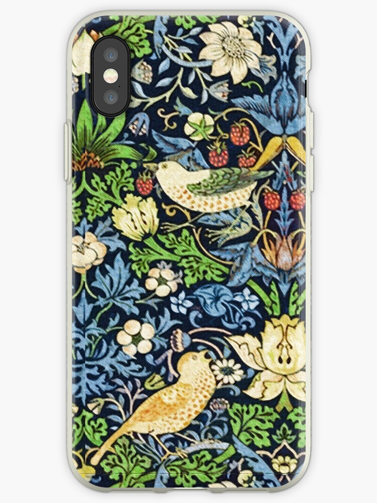 Art Nouveau Bird and Flower Tapestry by Marymarice