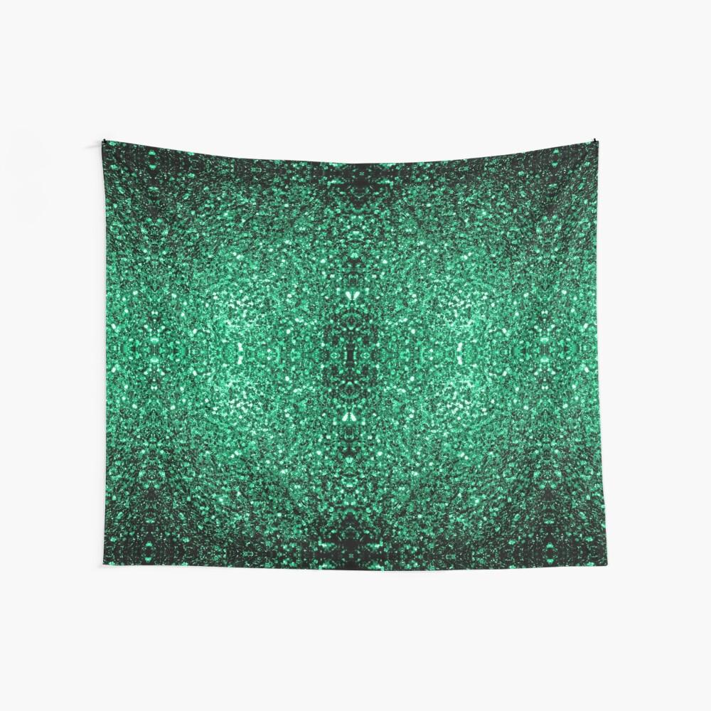 Hermosos destellos de color verde esmeralda. Tela decorativa