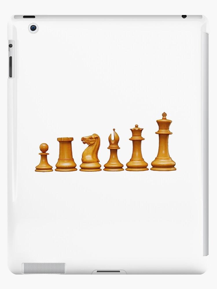 'CHESS, Chess Pieces, Pawn, Rook, Knight, Bishop, Queen, King, Original  Staunton ' iPad Case/Skin by TOM HILL - Designer