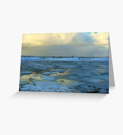 Ice and Frozen Lake Greeting Card