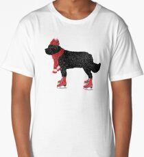 Newfoundland Dog Skating Long T-Shirt