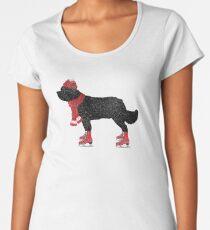 Newfoundland Dog Skating Women's Premium T-Shirt