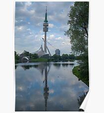 Munich Olympic stadium - High resolution Photograph Poster