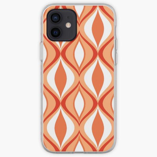Mid-Century Modern Diamonds, Orange & White iPhone Soft Case
