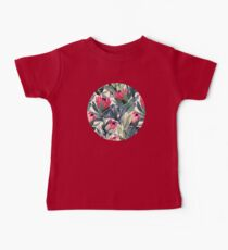 Painted Protea Pattern Baby Tee