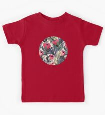 Painted Protea Pattern Kids Tee