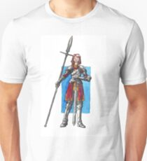 Red Knightess Watercolor Painting T-Shirt