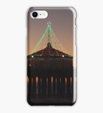 Southern California Pier Dressed Up For Christmas iPhone Case/Skin