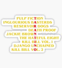 Quentin Tarantino films Sticker