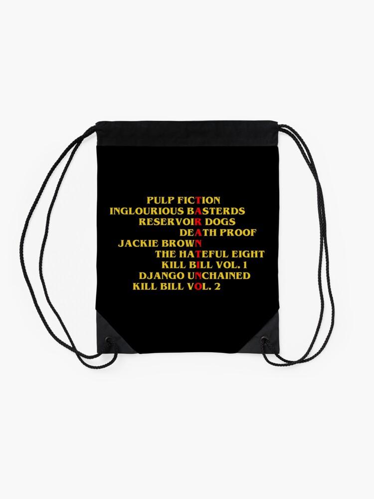 Alternate view of Quentin Tarantino films Drawstring Bag