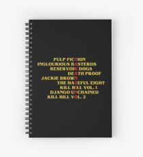 Quentin Tarantino films Spiral Notebook